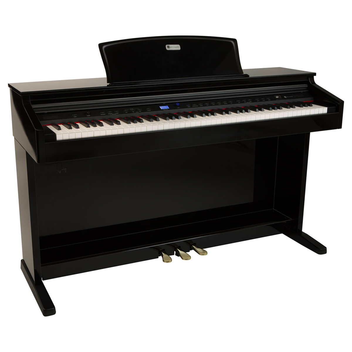 williams brioso 88 key console digital piano williams digital pianos. Black Bedroom Furniture Sets. Home Design Ideas