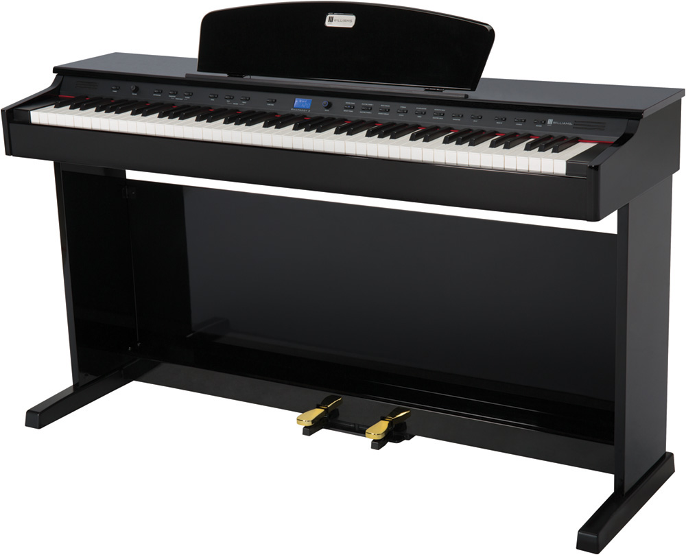 williams overture 2 88 key console digital piano williams digital pianos. Black Bedroom Furniture Sets. Home Design Ideas