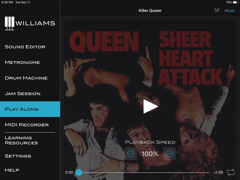 Williams App Sound Editor Play Along