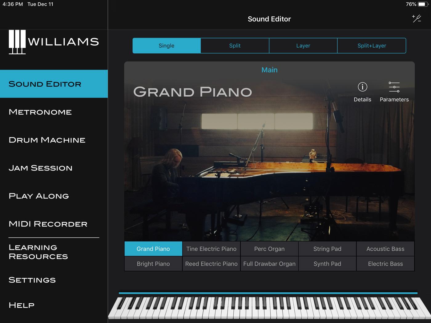 Williams App Sound Editor iPad