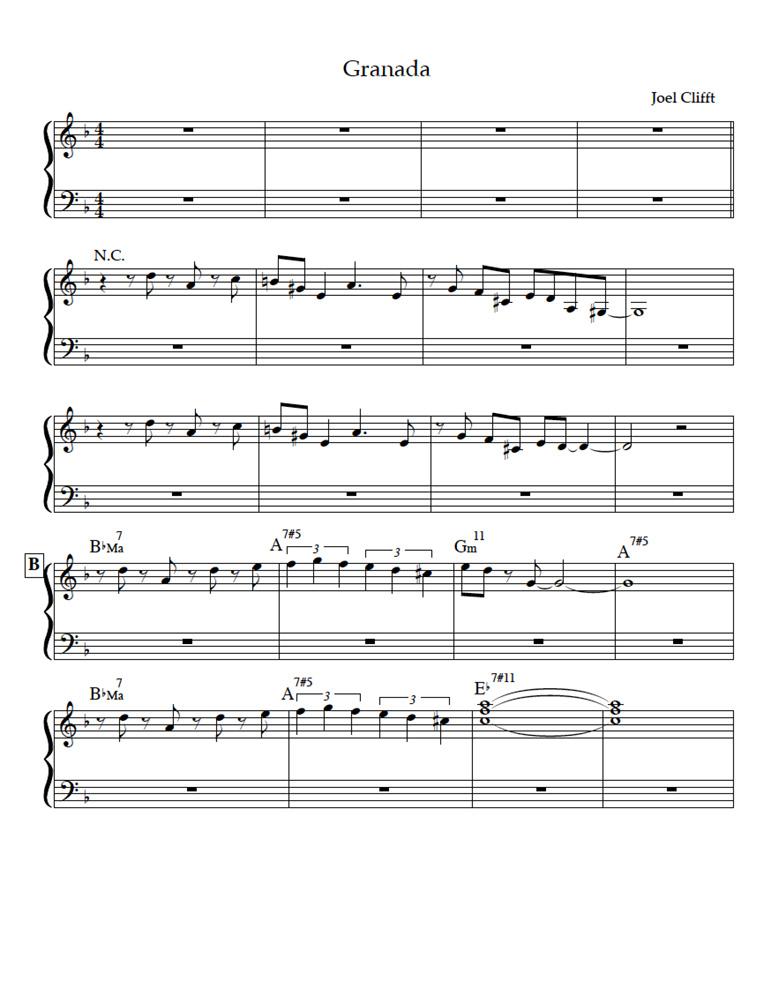 Granada Sheet Music