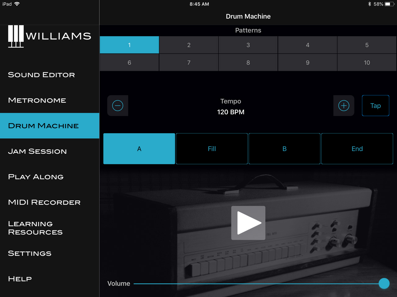 Williams App Drum Machine