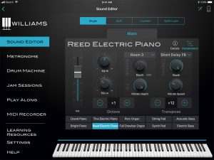Williams App iPad Sound Editor Parameters