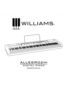Williams Allegro 2 Plus Manual
