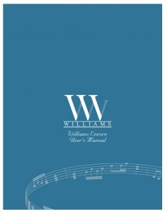 Williams Encore Manual