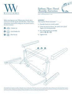 Williams Piano Bench Manual