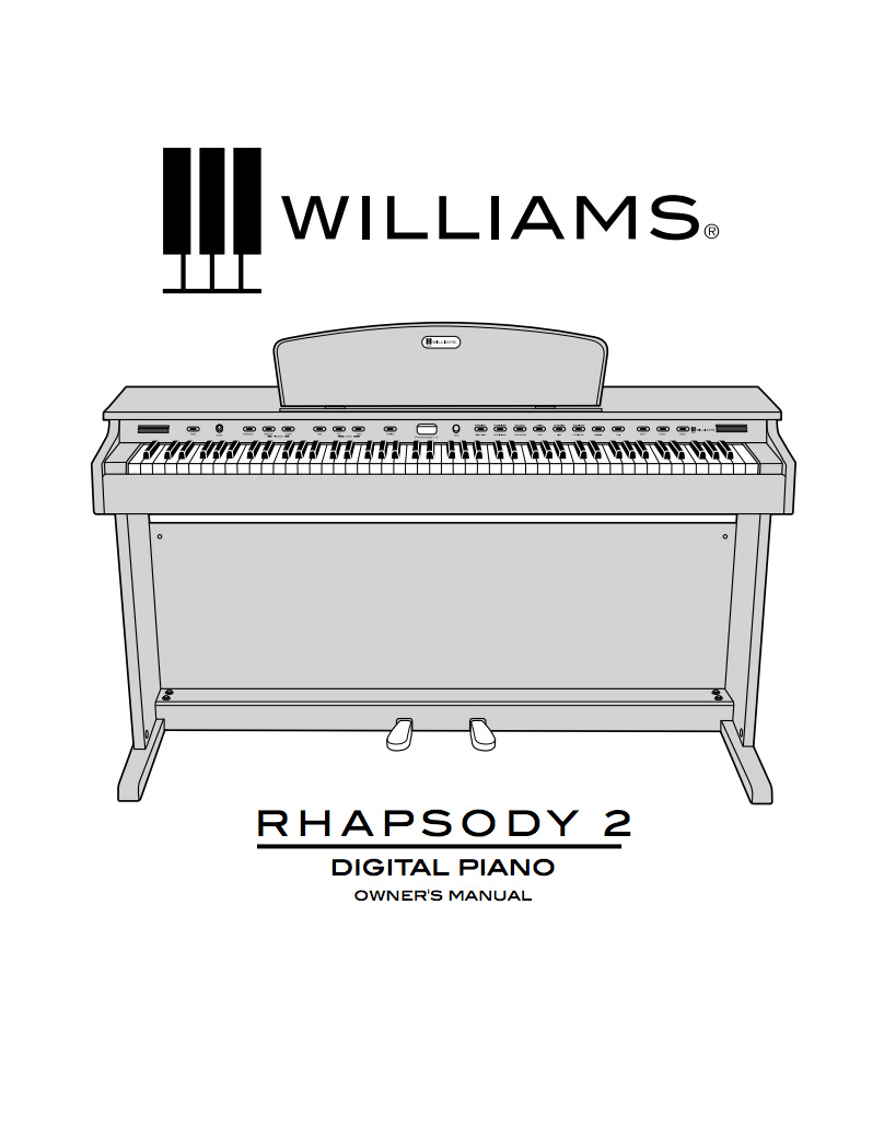 owner manuals williams pianos. Black Bedroom Furniture Sets. Home Design Ideas