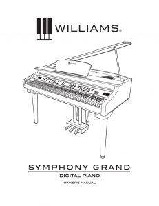 Williams Symphony Grand Manual