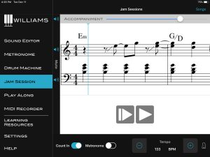 Williams App Sound Editor Jam Session