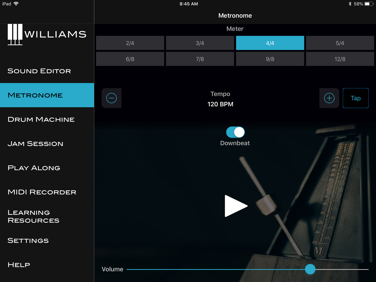 Williams App Metronome