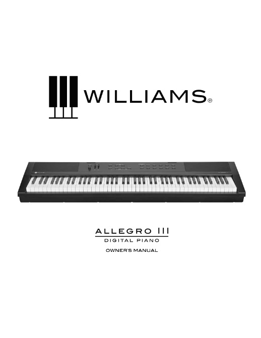 Williams Allegro III Manual
