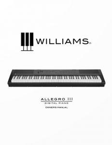 Williams Allegro III Manual