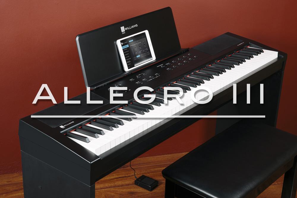 williams digital pianos legato iii allegro iii symphony grand and more. Black Bedroom Furniture Sets. Home Design Ideas